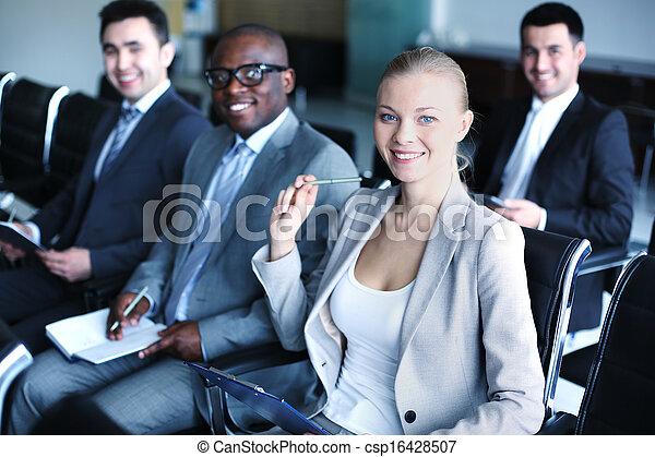 businesspeople, セミナー - csp16428507