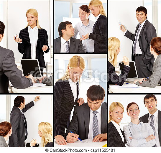 Businesspeople at work - csp11525401