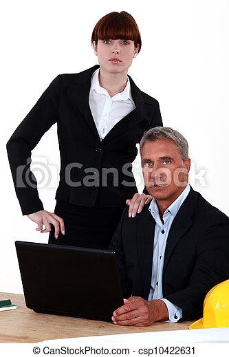 Un equipo de empresarios - csp10422631