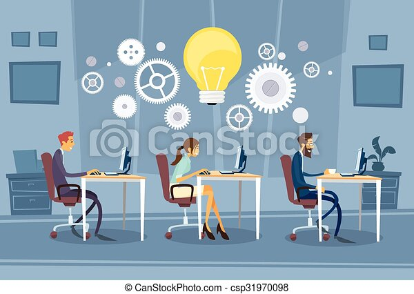 Businesspeople Group Working Creative Team - csp31970098