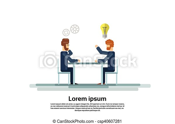 Businesspeople Group Working Creative Team Business People Sitting Office Desk - csp40607281