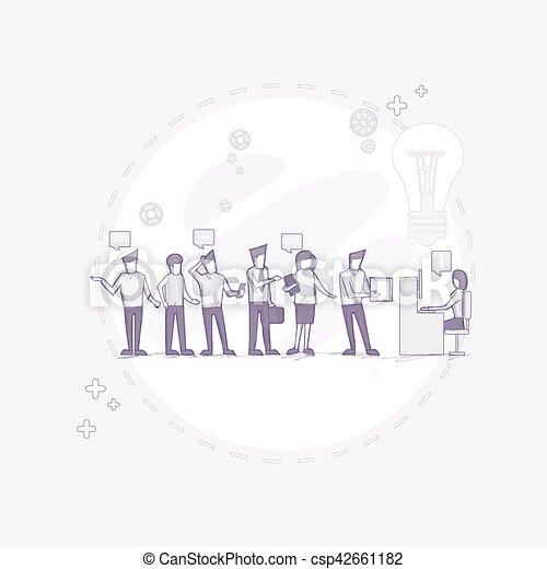 Businesspeople Group Working Creative Team Business People Sitting Office Desk - csp42661182
