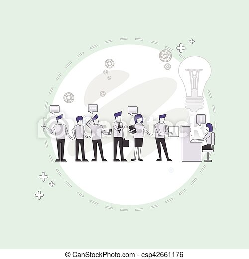 Businesspeople Group Working Creative Team Business People Sitting Office Desk - csp42661176