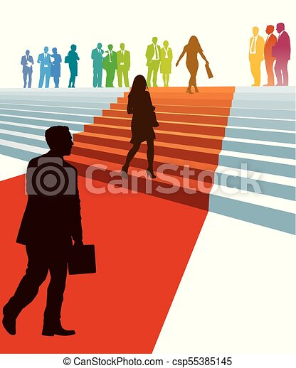 Businesspeople in a hurry - csp55385145