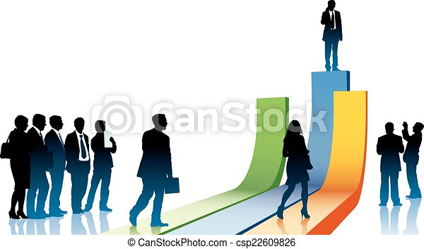 Businesspeople in a hurry - csp22609826