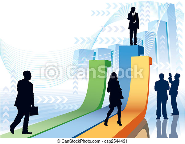 Businesspeople in a hurry - csp2544431
