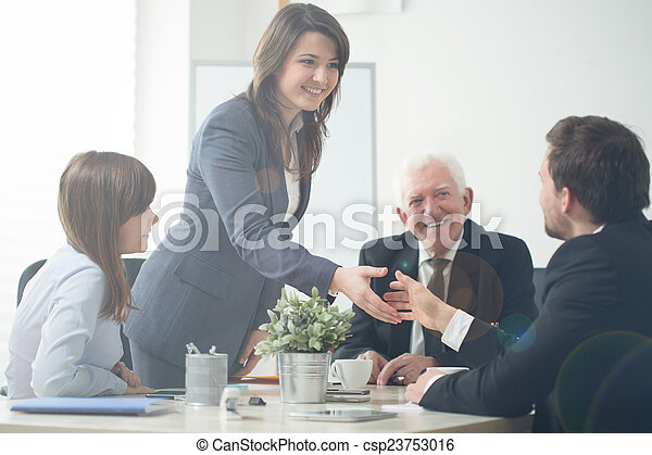 Businesspeople shaking hands - csp23753016