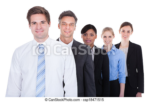 Businesspeople Standing In A Row - csp18471515