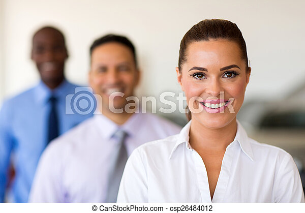 businesspeople standing in a row - csp26484012