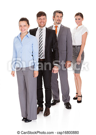 Businesspeople Standing In A Row - csp16800880