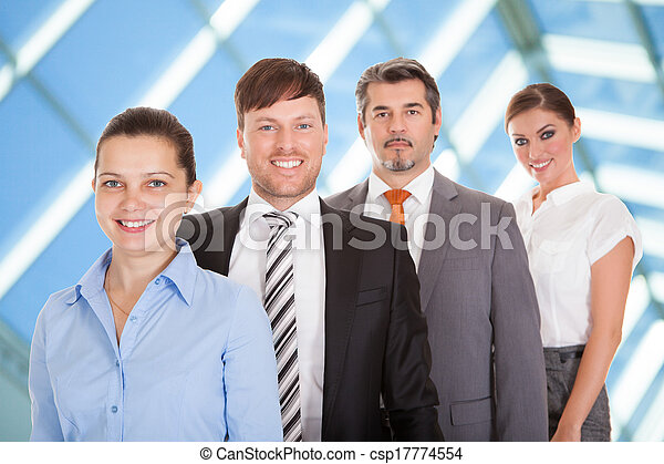 Businesspeople Standing In A Row - csp17774554