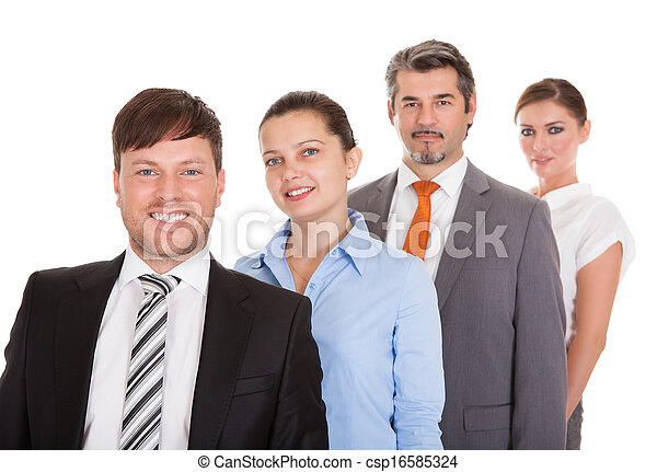 Businesspeople Standing In A Row - csp16585324