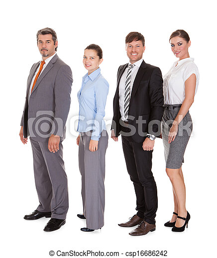 Businesspeople Standing In A Row - csp16686242