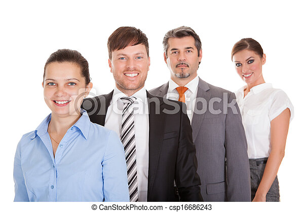 Businesspeople Standing In A Row - csp16686243