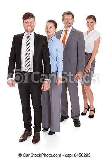 Businesspeople Standing In A Row - csp16450295