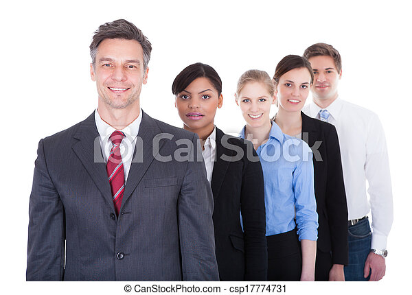Businesspeople Standing In A Row - csp17774731