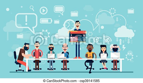 Businesspeople Web Designer Team Working Workplace - csp39141585