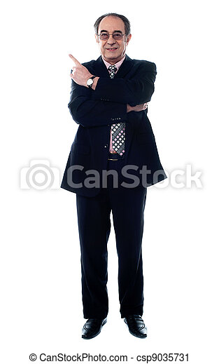 Businessperson pointing away - csp9035731