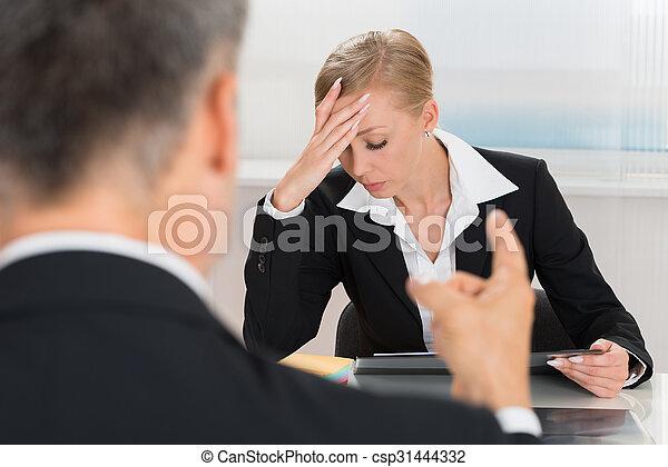 Businessperson Quarreling To Businesswoman - csp31444332