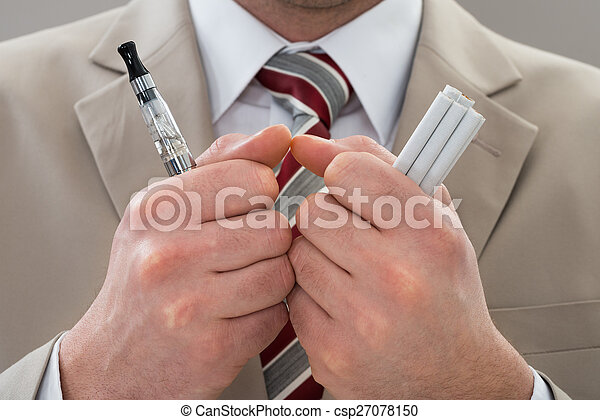Businessperson With E-Cigarette - csp27078150