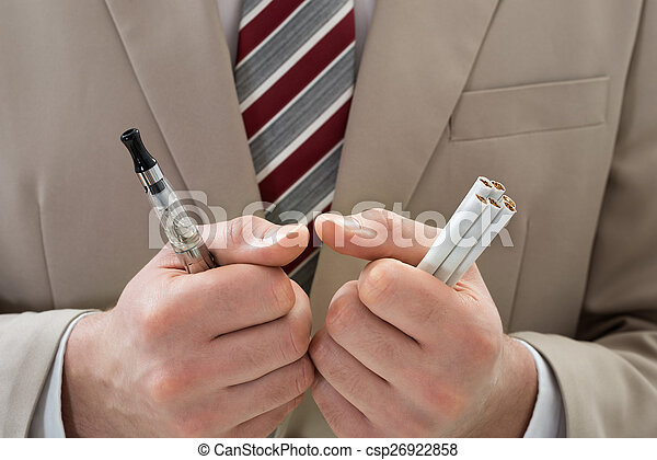 Businessperson With Electronic Cigarette - csp26922858