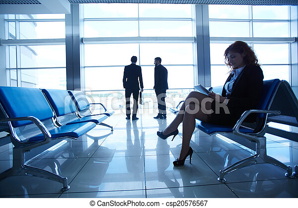 Businesswoman at the airport - csp20576567