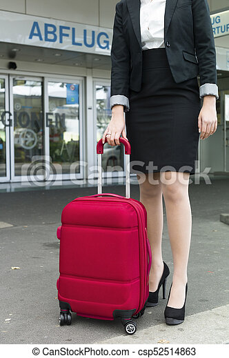 businesswoman at the airport - csp52514863