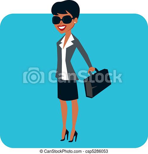 Businesswoman character - csp5286053