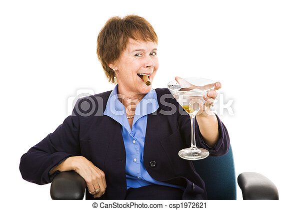 Businesswoman Drinking - csp1972621