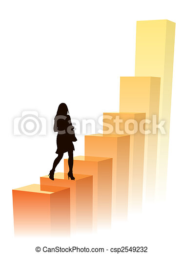 Businesswoman in a hurry - csp2549232