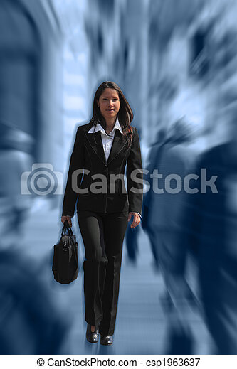 Businesswoman in a hurry - csp1963637
