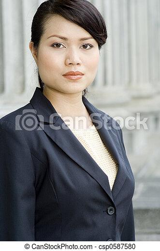 Businesswoman In Jacket - csp0587580