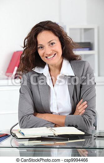 Businesswoman in the office - csp9994466