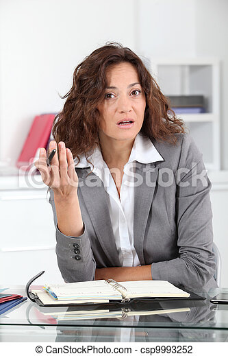 Businesswoman in the office - csp9993252