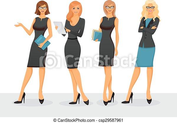 Businesswoman in various poses - csp29587961