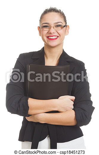 Businesswoman isolated on white - csp18451273