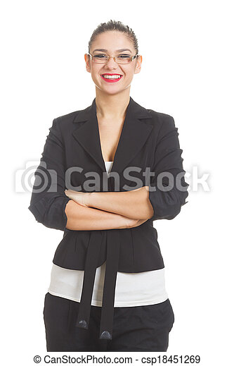 Businesswoman isolated on white - csp18451269