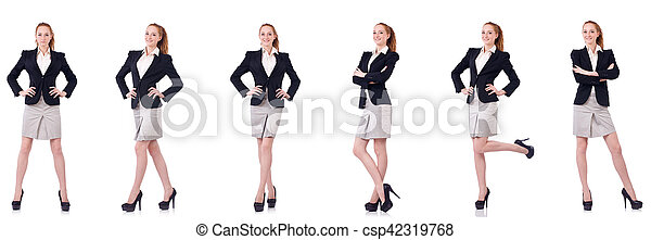 Businesswoman isolated on white - csp42319768