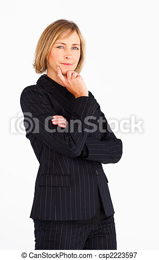 Businesswoman looking at the camera  - csp2223597