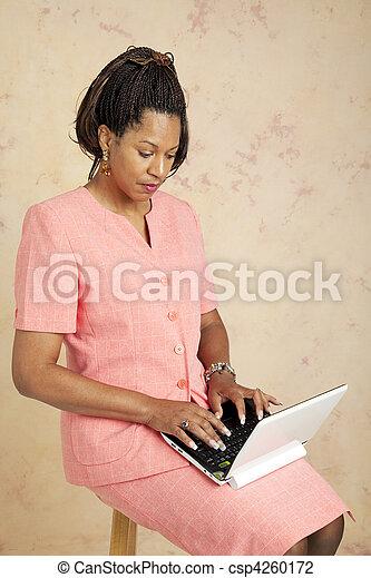 Businesswoman on 3G Network - csp4260172