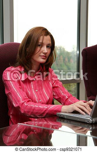 Businesswoman on Computer - csp9321071