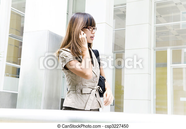 Businesswoman on the move - csp3227450