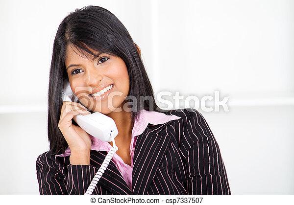 businesswoman on the phone - csp7337507