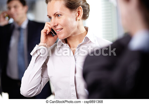 Businesswoman phoning - csp9891368