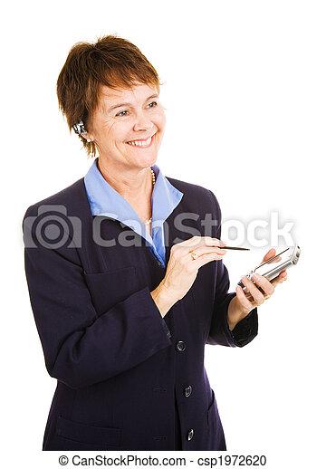 Businesswoman Taking Notes - csp1972620
