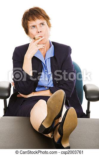 Businesswoman Thinks it Over - csp2003761