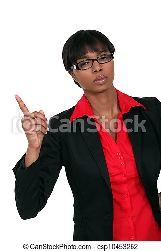Businesswoman wagging her finger - csp10453262