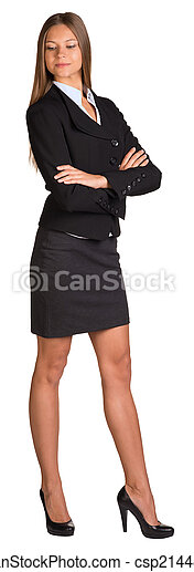Businesswoman with crossed arms - csp21448219