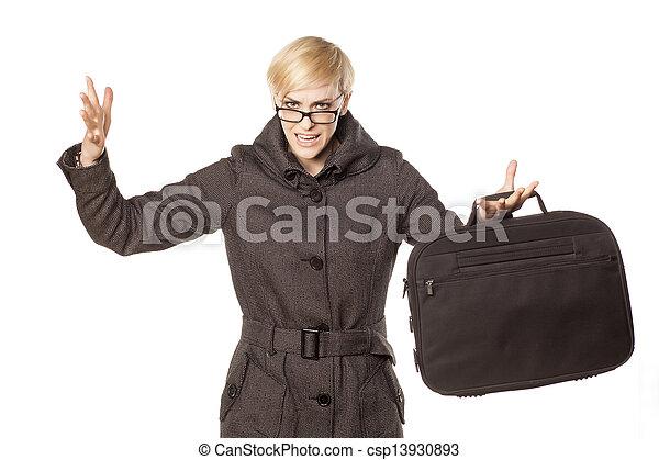 businesswoman yelling - csp13930893