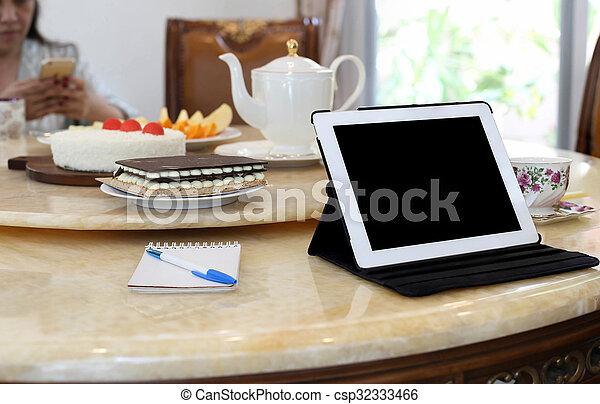 bussines, 電腦, 片劑, 人們 - csp32333466